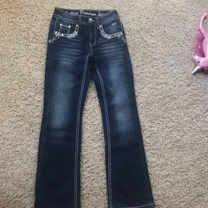 Girls Justice jeans size 8